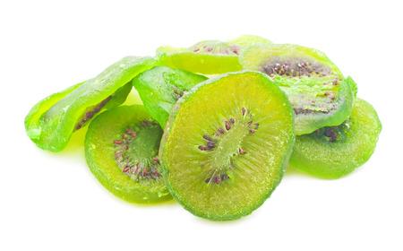 Fresh dried kiwi isolated on white background Stock fotó