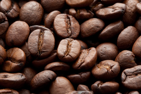 Close-up of brown coffee beans, background texture Stock fotó