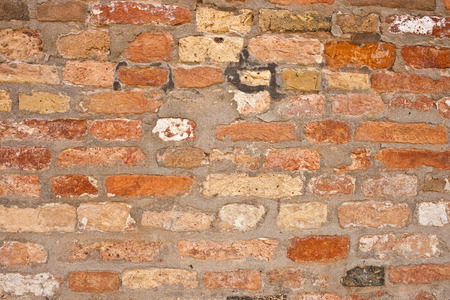 Beautiful old red brick wall texture background Stock fotó