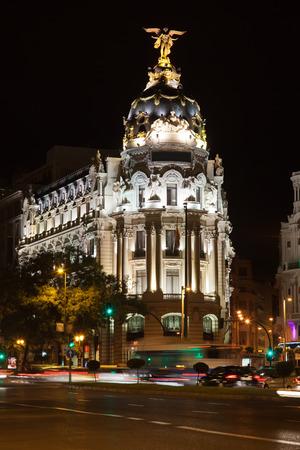 Metropolis Building on Gran Via, Madrid, Spain