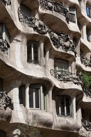 masterpiece: Famous Gaudis masterpiece - Casa Mila or La Pedrera, Barcelona, Spain