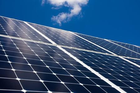 Solar panels and blue sky Stock fotó
