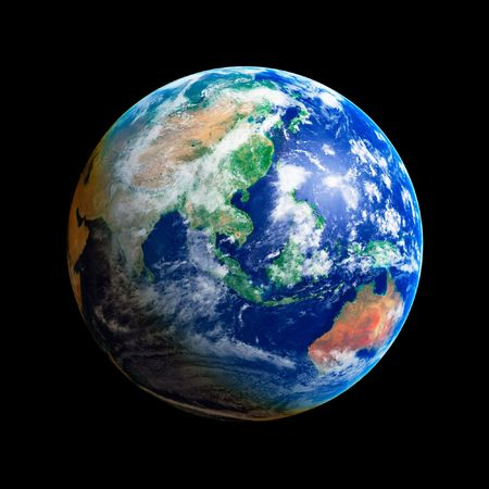 Earth Globe, Asia and Australia, high resolution image