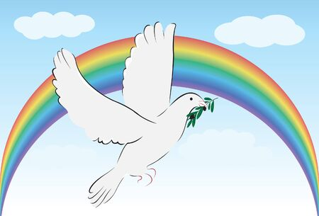 happyness: bird of peace Illustration