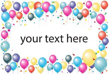 balon: balloons for party invitatation