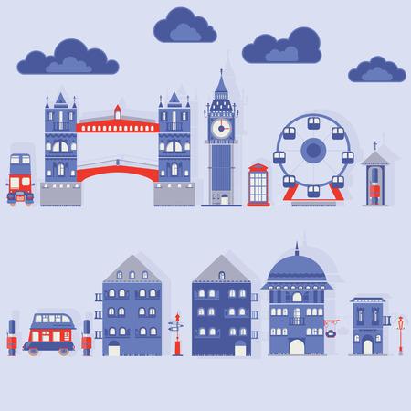 gherkin building: modern vector flat illustration of London Illustration