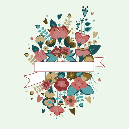 life events: floral banner for life events vector image