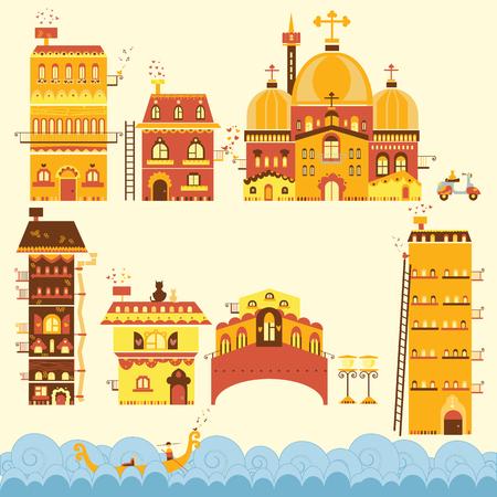 roman empire: Venice Illustration set, vector Art