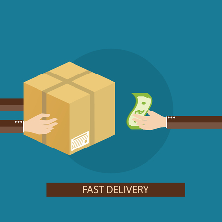costumer: Modern vector illustration of delivery services