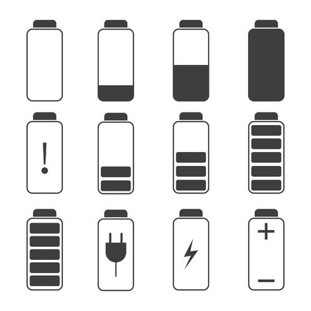 Modern Vector Illustration Of A Battery Charging Symbols Battery