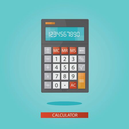 calculator money: vector illustration of colorful electronic calculator Stock Photo