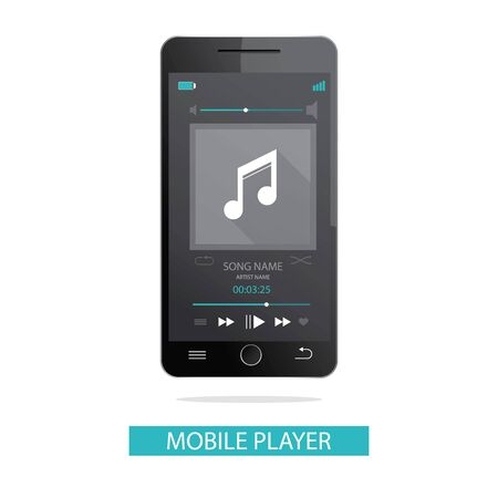 scrollbar: vector illustration of mobile phone and media player