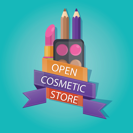 brand new: vector illustration of brand new cosmetic store
