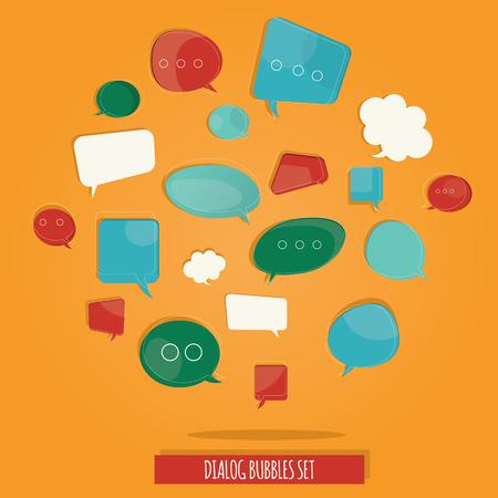 brightness: Modern vector illustration of brightness colorful questions speech bubbles set Illustration