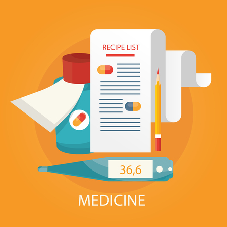 Modern vector illustration of health care services, health monitoring, doctor