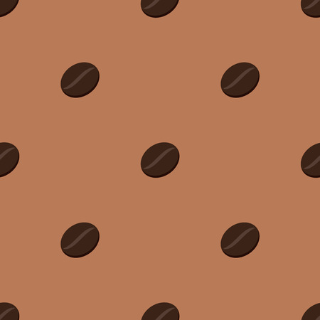 Modern seamless  vector illustration of coffee beans
