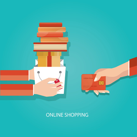costumer: Modern vector illustration of online shopping, delivery service