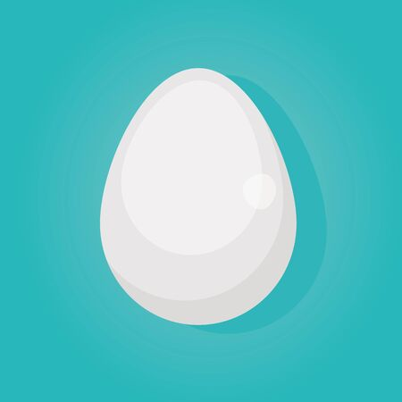 Modern vector illustration of Raw and broken chicken eggs. Broken egg shells. Cooking eggs. Healthy food. Фото со стока - 132060487