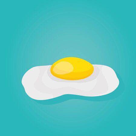 Modern vector illustration of scrambled egg