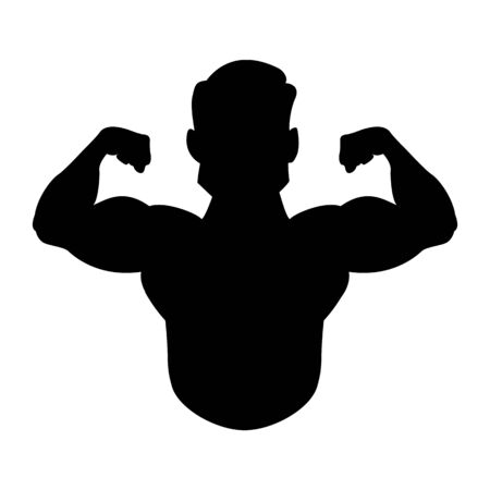 Bodyduilding silhouette vector. Illustration for fitness logo, label, emblem fitness club and gym. Standard-Bild - 134587371