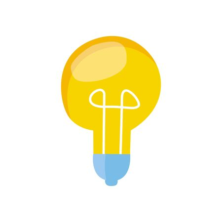 Modern vector illustration of light bulb. Symbol of idea. Energy concept. Creative and analytics vector