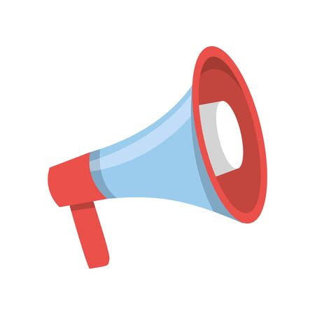 Vector illustration of megaphone. Symbol of teamleader. Isolated on white background.