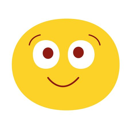 Smiling emoji vector illustration. Isolated on white background. Happy emotion face. Cute smiling face. 일러스트