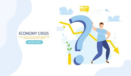 World financial crisis. Oil price drop. Collapse of the economy. Bankruptcy. Down arrow stocks graph. Economy stock market crash down. Depression amid losing money Web banner for internet site vector 일러스트