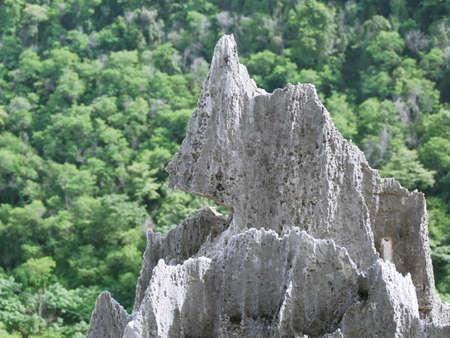 A strange rock formed naturally.