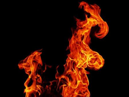 Abstract blaze fire flame texture for banner background.Strange shape bonfire.
