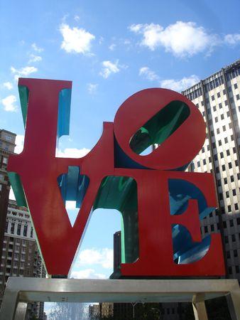 Love Standbeeld in Philadelphia