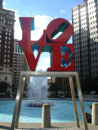Love Statue in Philadelphia photo