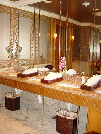 make public: Royal Bathroom Stock Photo