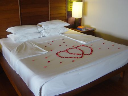 Honeymoon Bed Stock Photo - 361593