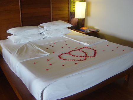 table linen: Honeymoon Bed