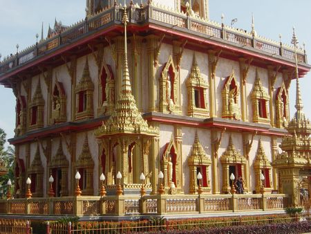 chalong: Wat Chalong in Thailand