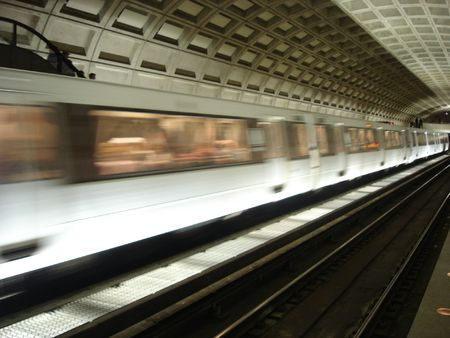 Metro Train Station in Washington DC