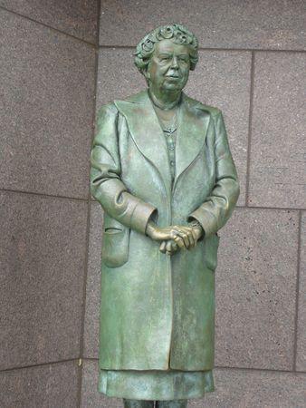 Eleanor Roosevelt at Roosevelt Memorial in Washington DC