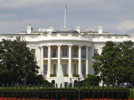 Witte Huis in Washington DC Stockfoto