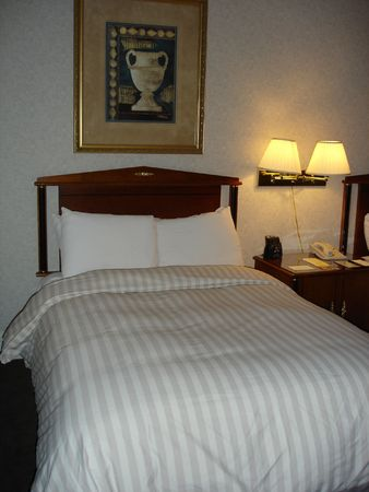 overnight stay: Nice Bedroom Stock Photo