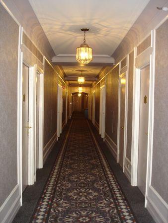 Hotel Hallway Foto de archivo