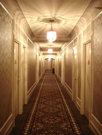 Hotel Corridor Foto de archivo