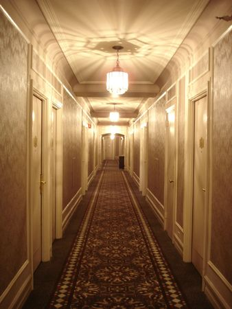 Hotel Corridor Standard-Bild