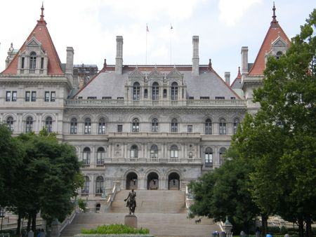 state government: New York State Capitol in Albany, New York Stock Photo