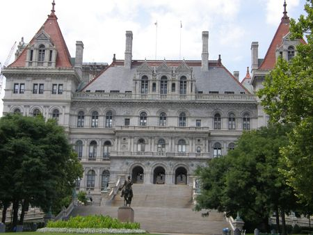 New York State Capitol in Albany, New York 版權商用圖片