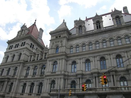 legislators: New York State Capitol in Albany, New York Stock Photo