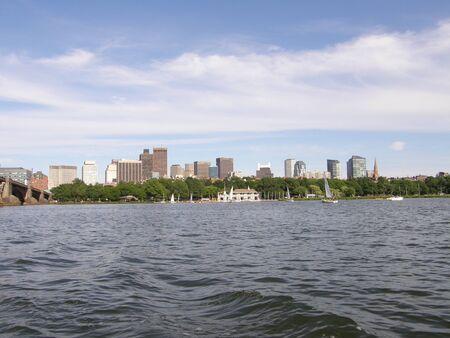 Bostons Skyline Reklamní fotografie