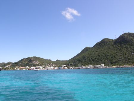 Islands of St Maarten in the Caribbean