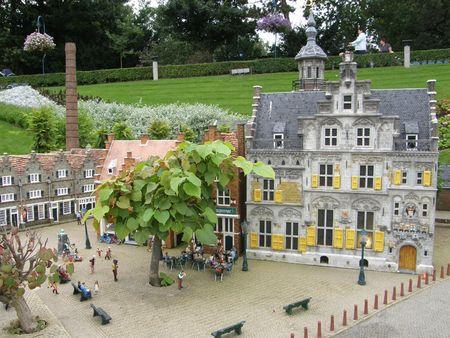 Madurodam (miniatuur stad) in Den Haag in Nederland