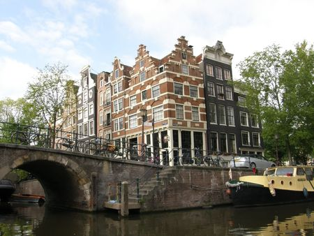 sabbatical: Amsterdam Canals & Houses Stock Photo